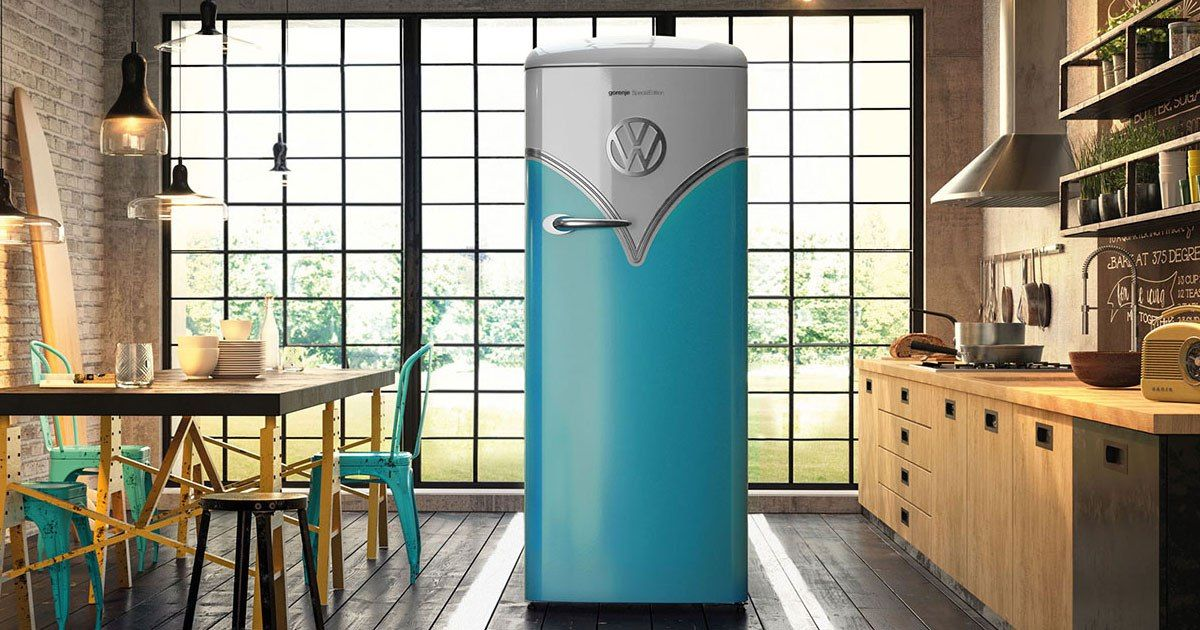 Gorenje Classico Kühlschrank : Gorenje retro kühlschrank in vw bulli t optik for the home