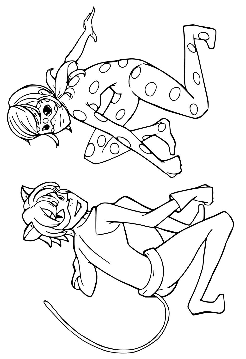 Coloring page miraculous tales of ladybug and cat noir for Disegni da colorare lady bug