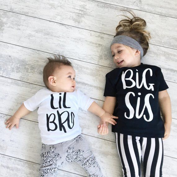 Our Big Sister Little Brother Big Sis Lil Bro T Shirt Bodysuit Sibling Clothing Set Makes A Perfect Gift Baby Outfit Junge Kinderkleidung Geschwister Shirts