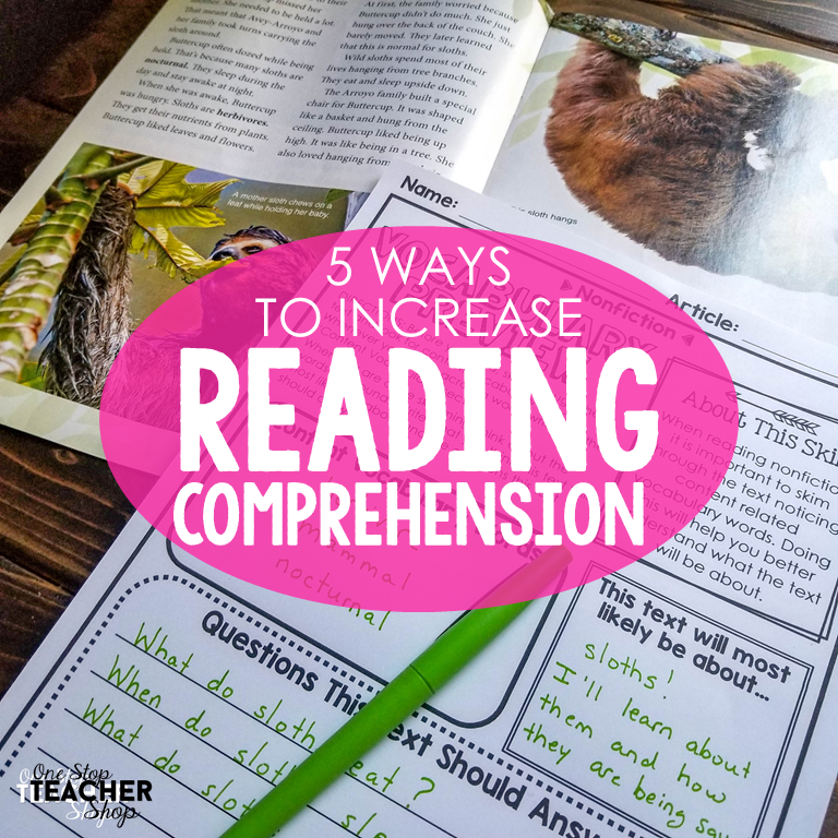 increasing comprehension for middle school students with