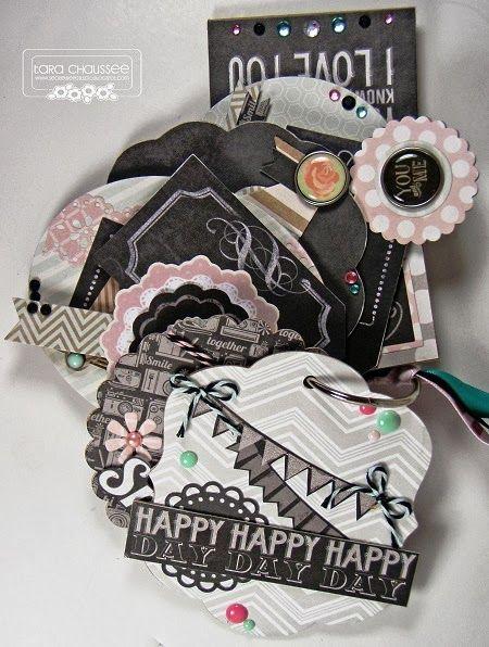 Chalk style mini scrapbook album featuring My Mind's Eye 'Chalk Studio'Secretbees Studio: Chalk It Up Challenge!