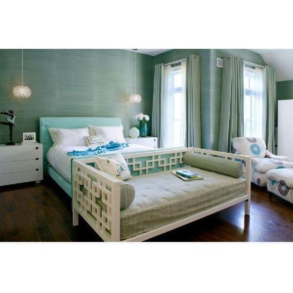blue platform bed cheap bedrooms green blue grasscloth wallpaper turquoise platform bed west elm nightstands grommet drapes white overlapping squares