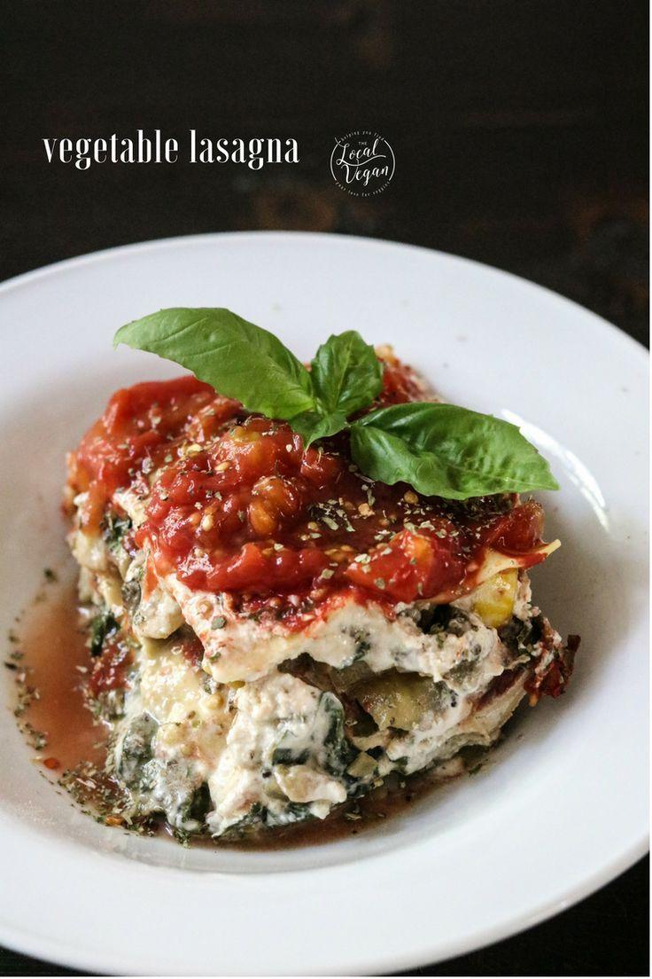 Vegetable Lasagna Healthy Vegan Lunch Dinner Recipes