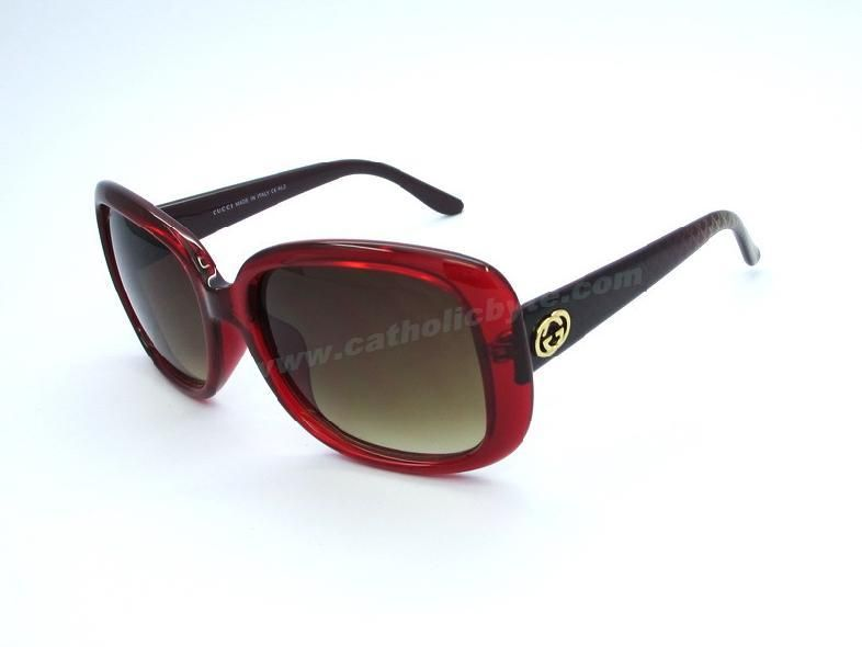2014 gucci gg 3593 s red brown square asian fit sunglasses