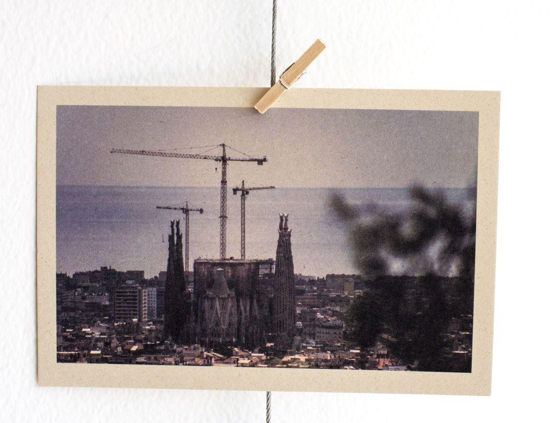 La Sagrada Familia en Barcelona, Fotopostal parte de la serie 1 Barcelona #regalo #creativo #perfecto #fotografía