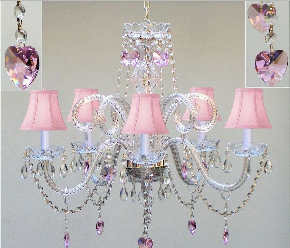Chandeliers For S Rooms Chandelier Lighting With Crystal Pink Shades Kids