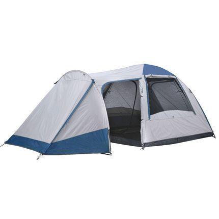 Light Grey//Blue OZtrail Tasman 4V 4-Person Dome Tent