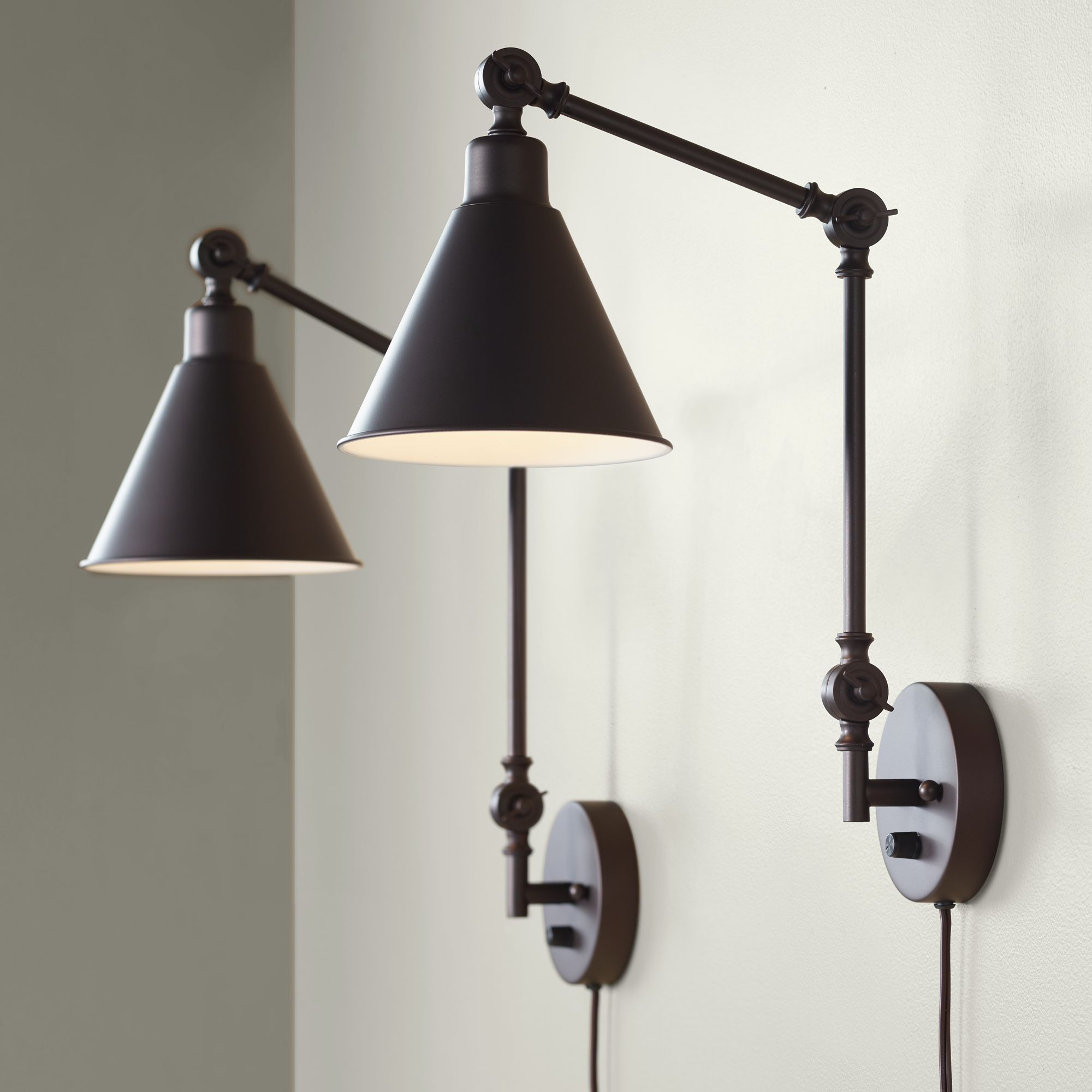 Home Plug In Wall Lamp Wall Mounted Lamps Swing Arm Wall Lamps
