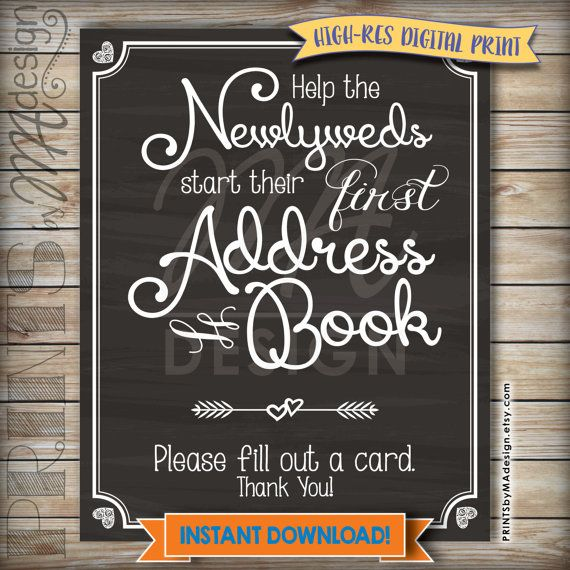 wedding address book