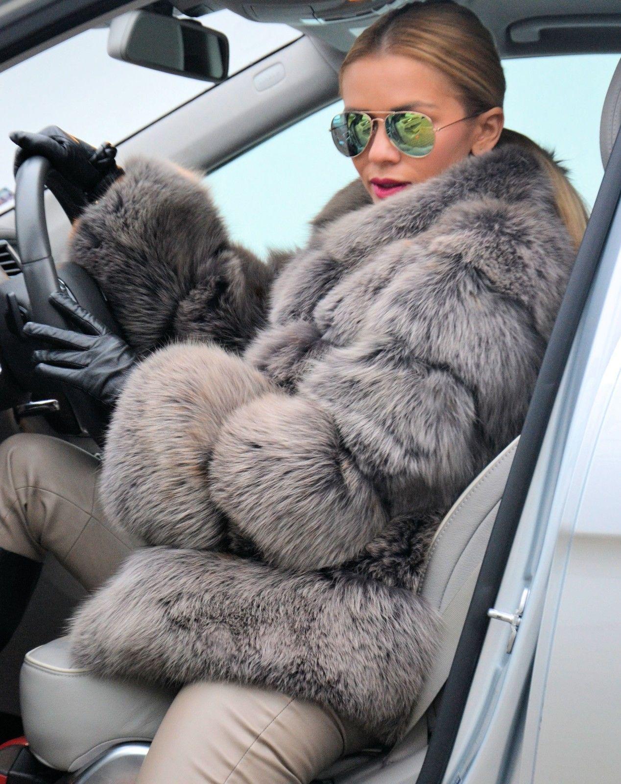 2015 MOCCA ROYAL SAGA FOX FUR JACKET LIKE COAT SILVER SABLE MINK CHINCHILLA LYNX | eBay | Fur ...