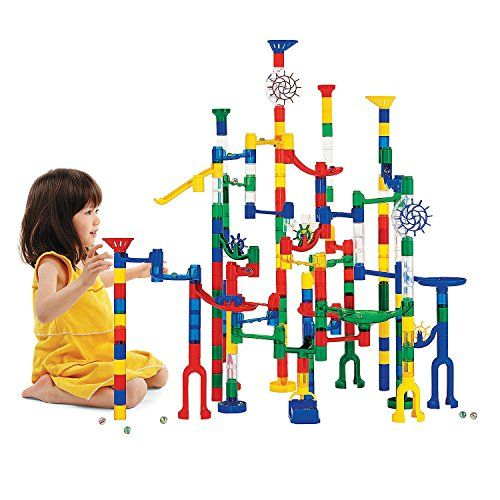 105 PCS Construction Building Blocks Set for Over 3 Year Olds Kids As Gifts Seilent Marble Run Toy,Marble Runs STEM Educational Learning Toy