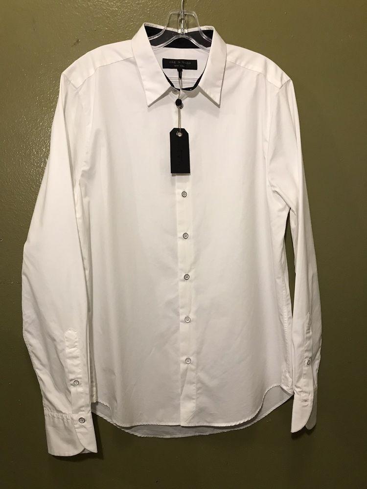 6fd94620389 new RAG   BONE men dress shirt ANDREW slim white size 17 MSRP  250  fashion   clothing  shoes  accessories  mensclothing  shirts (ebay link)