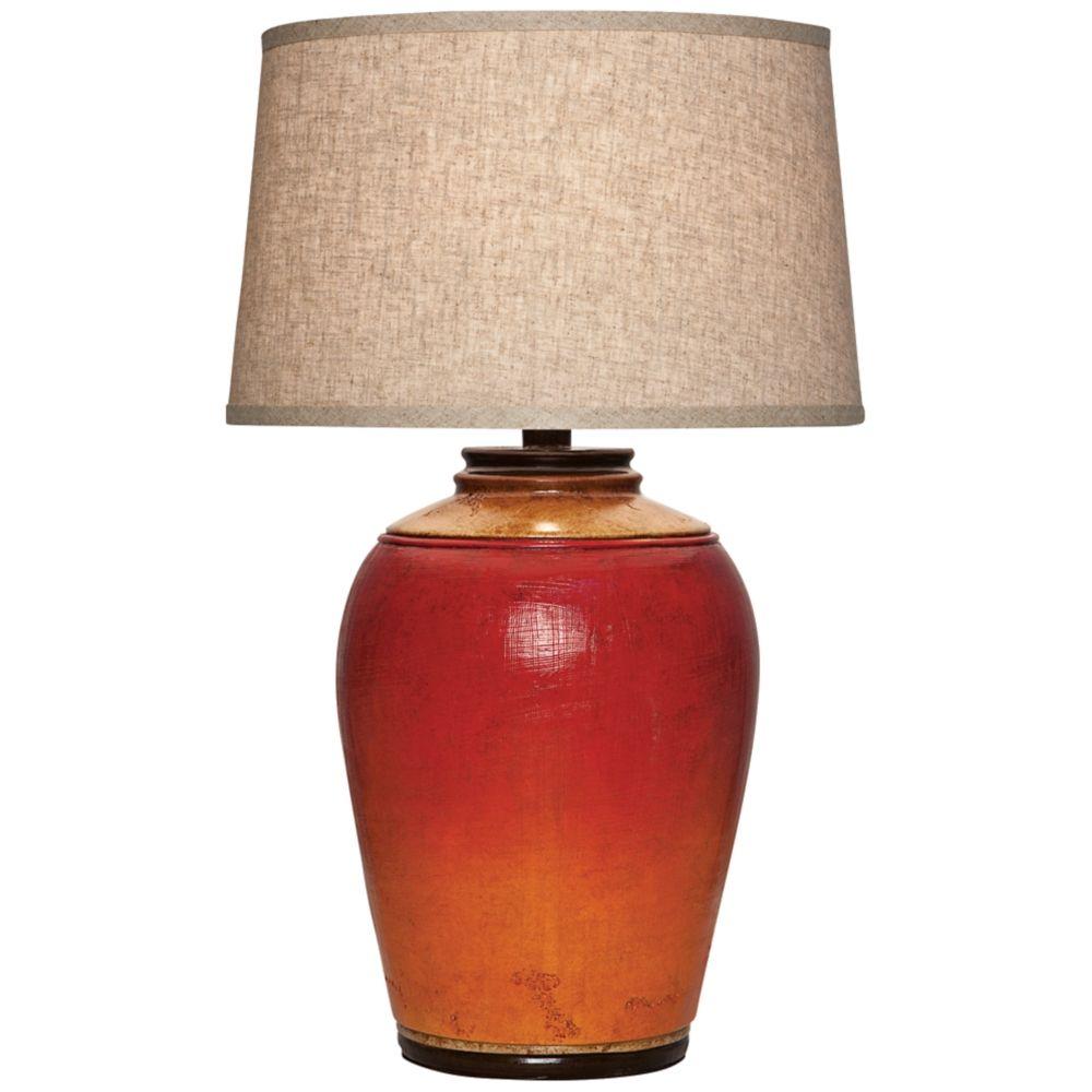 Kearny Light Redwood Urn Table Lamp - Style # 5F879 ...