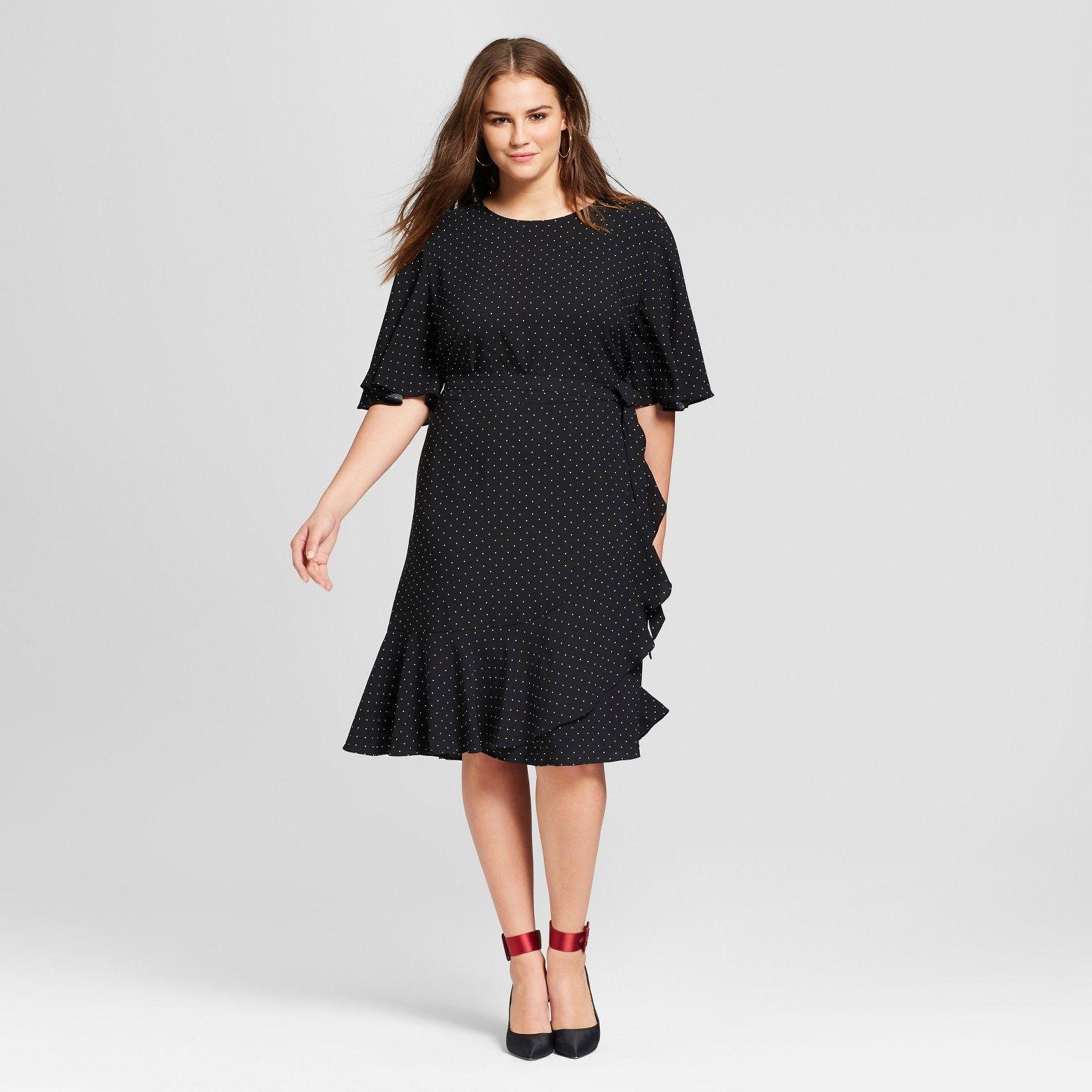 Women's Plus Size Ruffle Wrap Dress Who What Wear