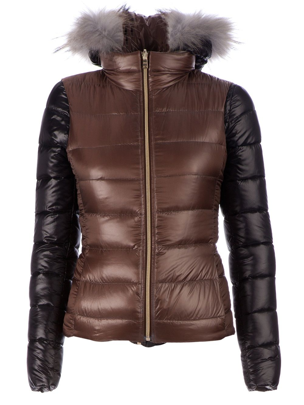 Herno Fur Hooded Padded Coat Farfetch Com Mens Down Jacket Herno Padded Coat [ 1334 x 1000 Pixel ]