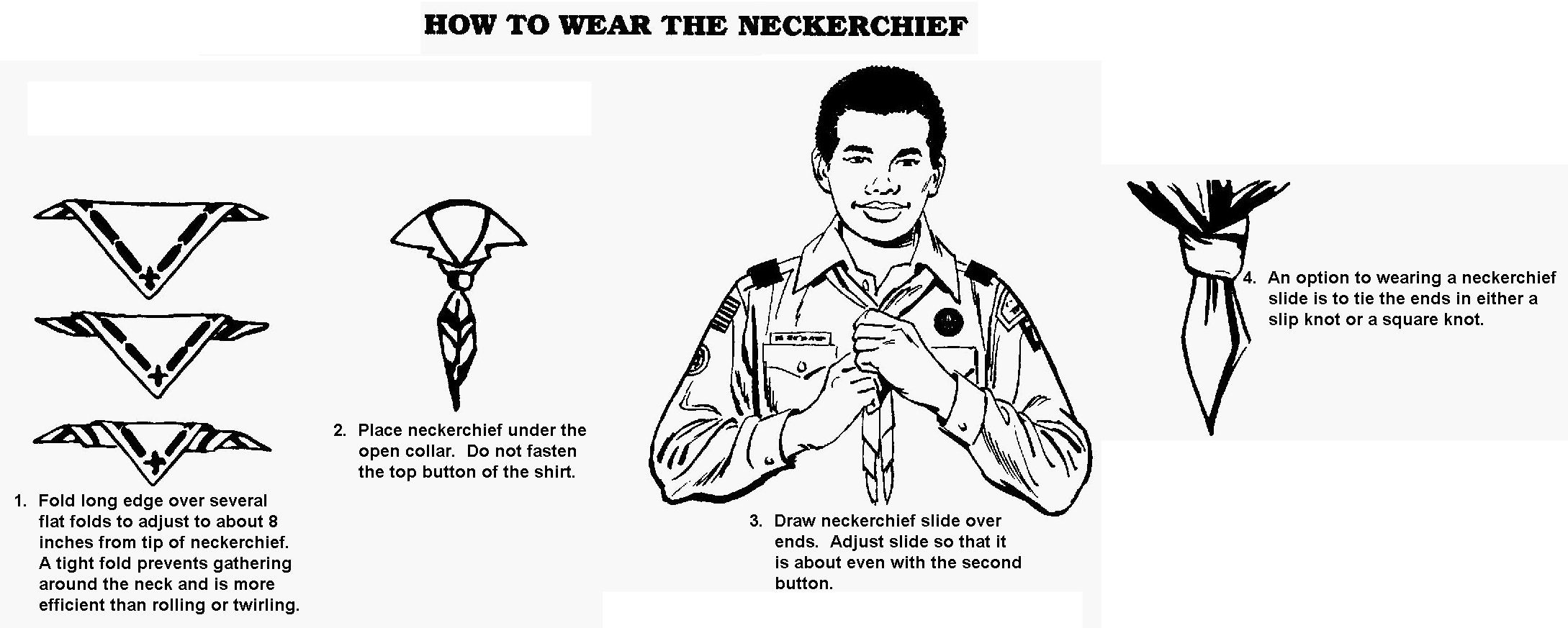 Scouts cub neckerchief how to wear photos