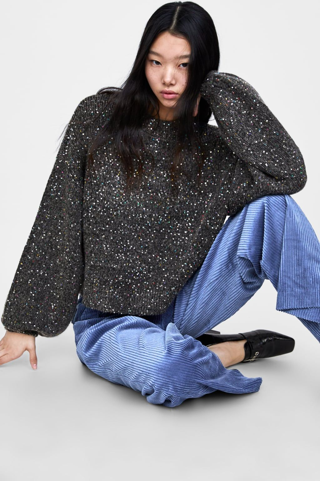 3d344c97 Image 6 of SEQUIN SWEATER from Zara   Shopping List   Sequin sweater ...