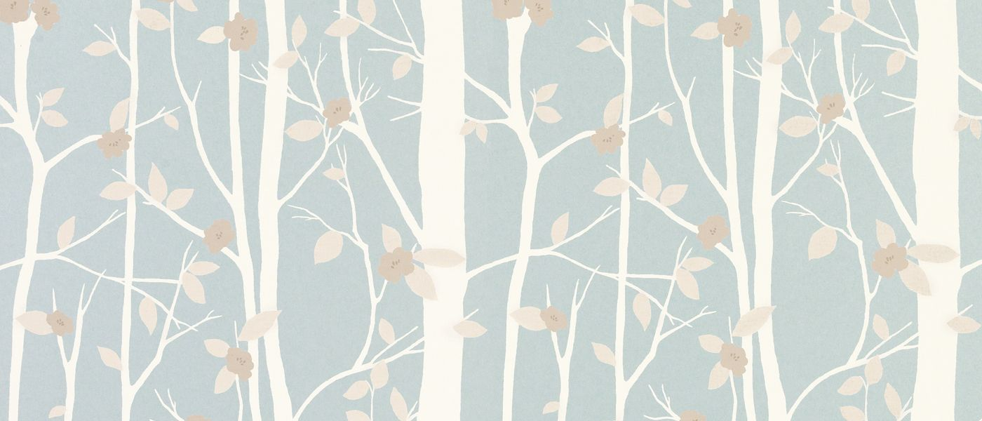 Cottonwood Duck Egg Leaf Wallpaper Laura Ashley Wallpaper And