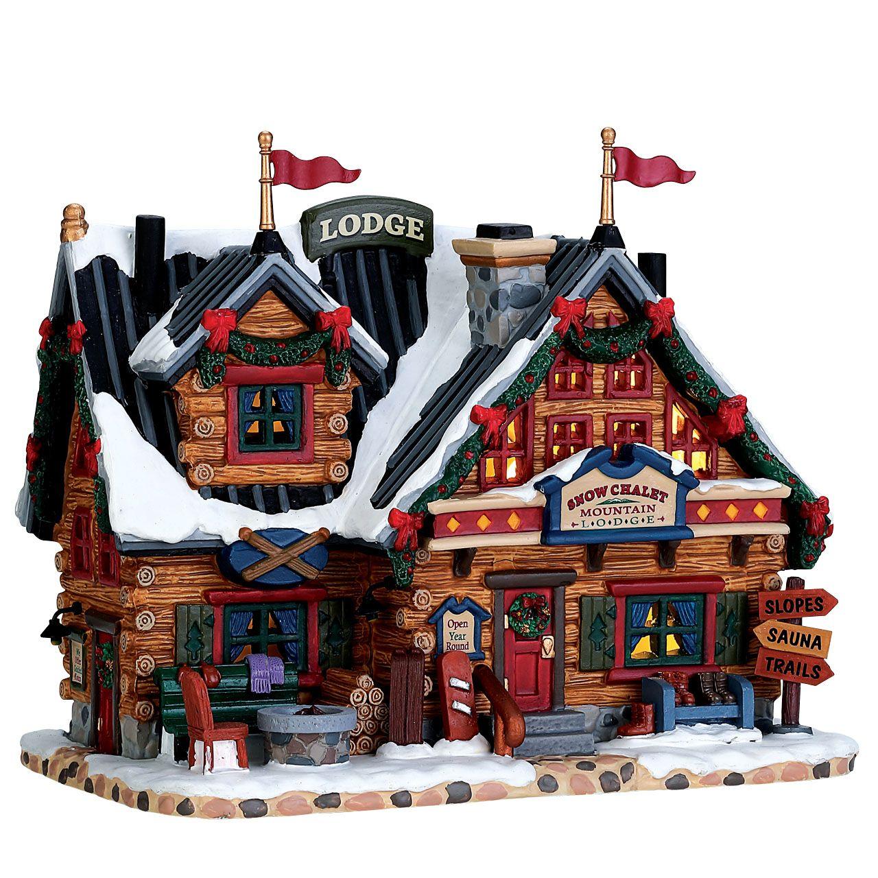 Lemax Apres-Ski Lodge verlicht kersthuisje Vail Village 2017 - Lemax ...