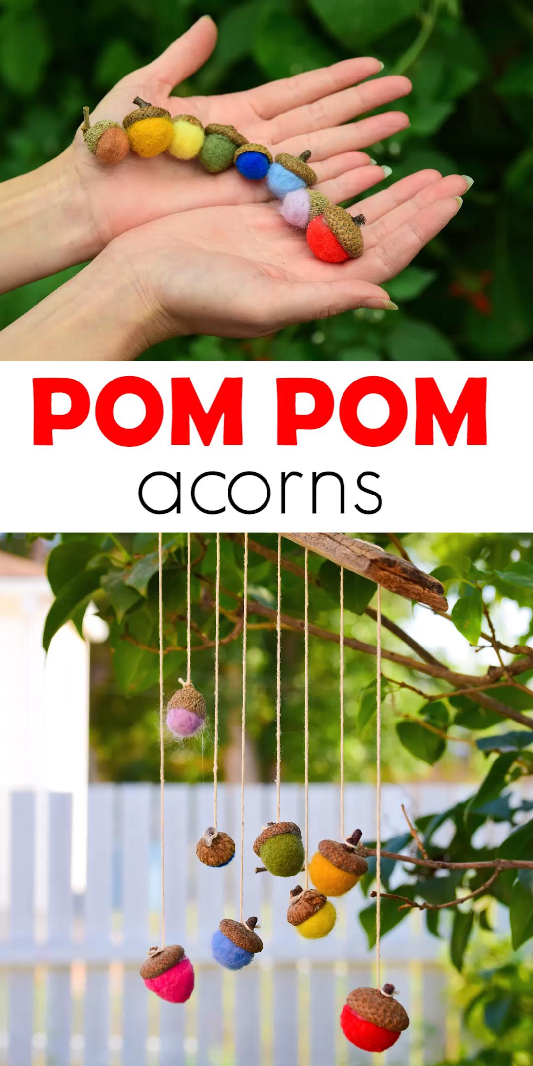 Pom Pom Acorn Craft