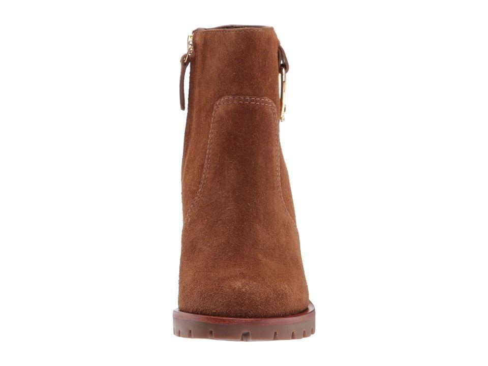 d5edd16f019 Tory Burch Sofia 80mm Lug Sole Boot Women s Dress Boots Festival Brown