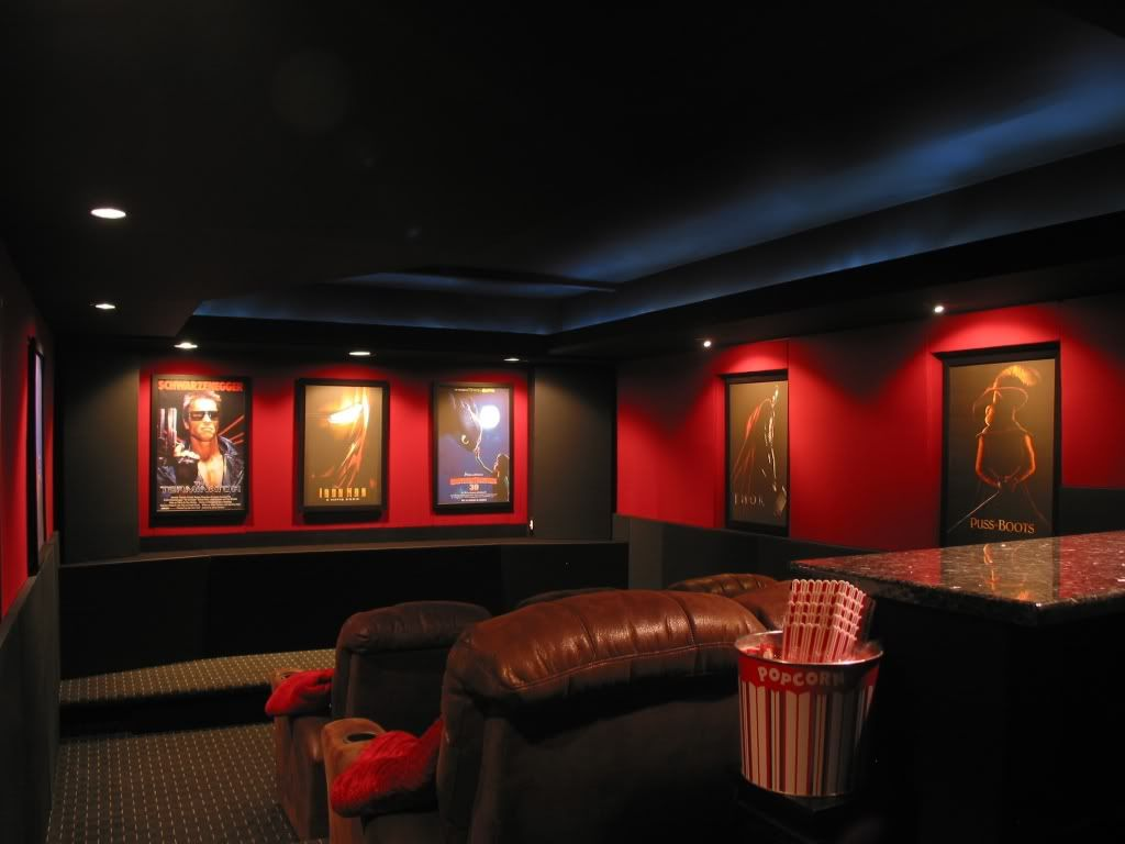 My Completed Theater With Pics Avs Forum Diy Theater Pinterest Basements Acoustic