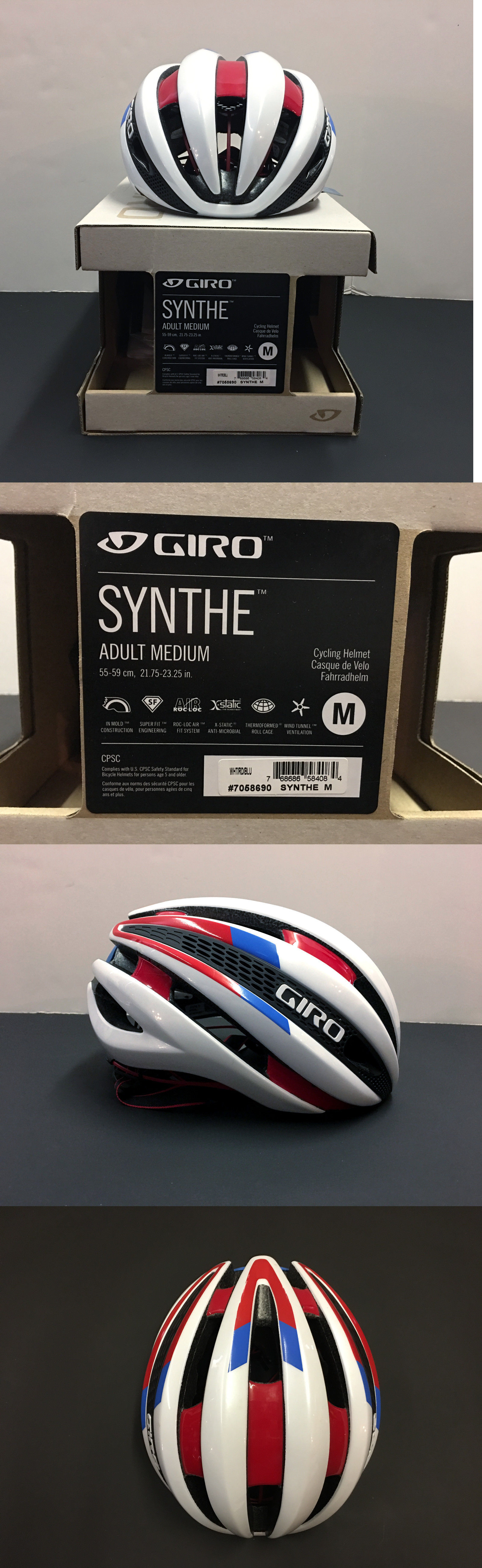 Helmets 70911 Giro Synthe Road Cycling Helmet Red White Blue Size Medium Buy It Now Only 189 95 On Ebay Cycling Helmet Red White Blue Road Cycling