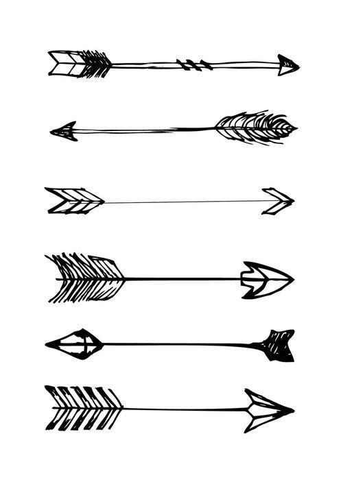 Free arrow black and white print sweetness Art, Arrow tattoos