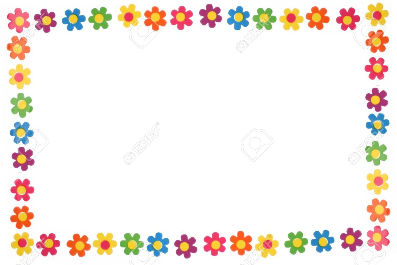 colorful flower border and frame Stock frames borders flower 1300×