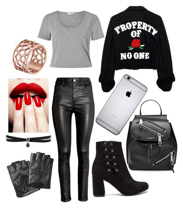 """""""Untitled #24"""" by gabporto on Polyvore featuring H&M, Marc Jacobs, Karl Lagerfeld, Fallon, Tartesia and Miss Selfridge"""