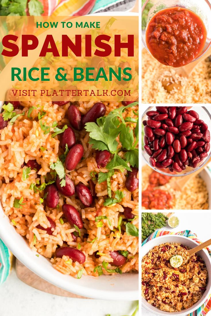 How To Make Spanish Rice And Beans Spanish Rice And Beans Spanish Rice Rice And Beans Recipe