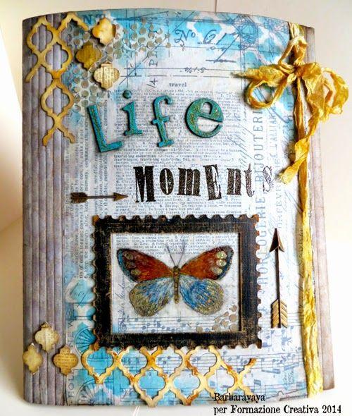Spettacolare mini album realizzato con prodotti TH da Yaya. yaya scrap & more:  Life moments (Large folio) FORMAZIONE CREATIVA 2014
