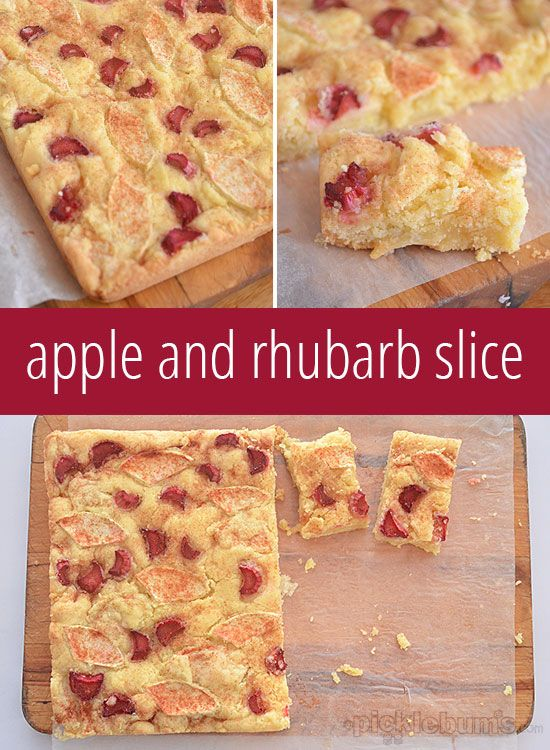 Apple And Rhubarb Slice Picklebums Com Rhubarb Recipes Apple Rhubarb Recipes Apple Recipes