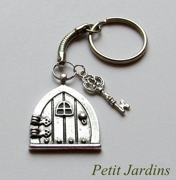 Fairy Door keyring Key Charm Fantasy keyring  Hobbit Door keyring Bag charms & Fairy Door keyring Key Charm Fantasy keyring  Hobbit Door keyring ...