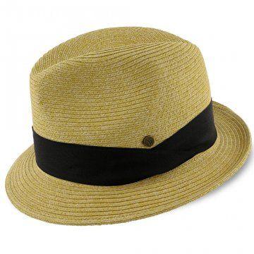 4bb3c366f189d Walrus Hats Natural Paper Braid Straw Fedora Hat w  Black Band ...