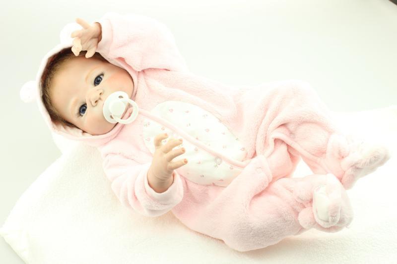 113.91$  Watch here - http://ali3zo.worldwells.pw/go.php?t=32566961855 - 57cm Full silicone vinyl reborn baby doll toys reborn girl boy baby dolls hadnmade lifelike finished doll