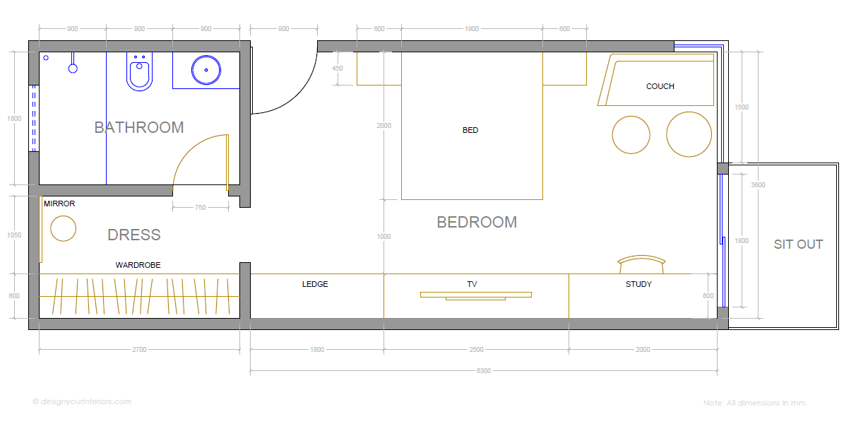 bedroom layout design ideas