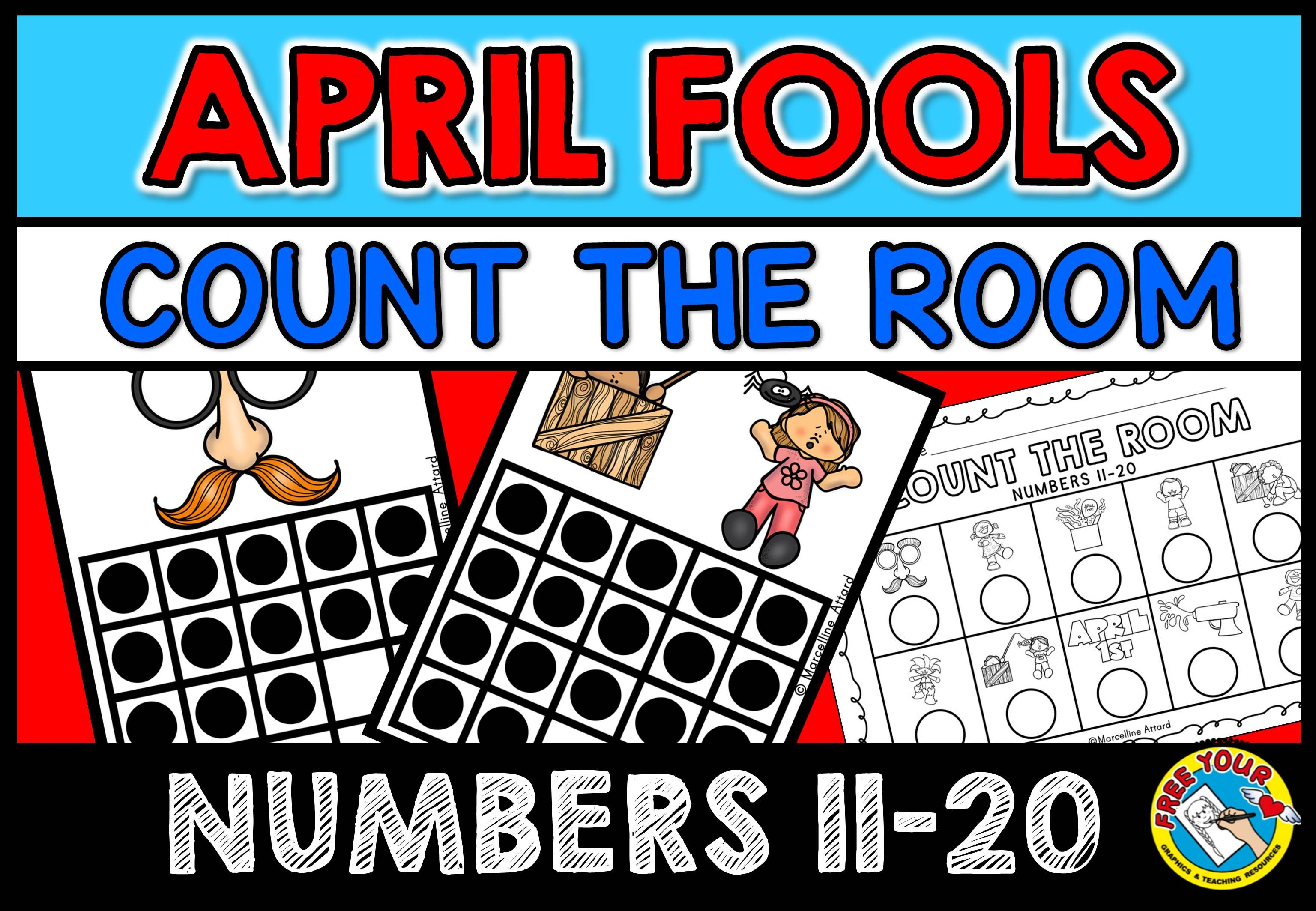 April Fools Day Activity Kindergarten Math Count The Room