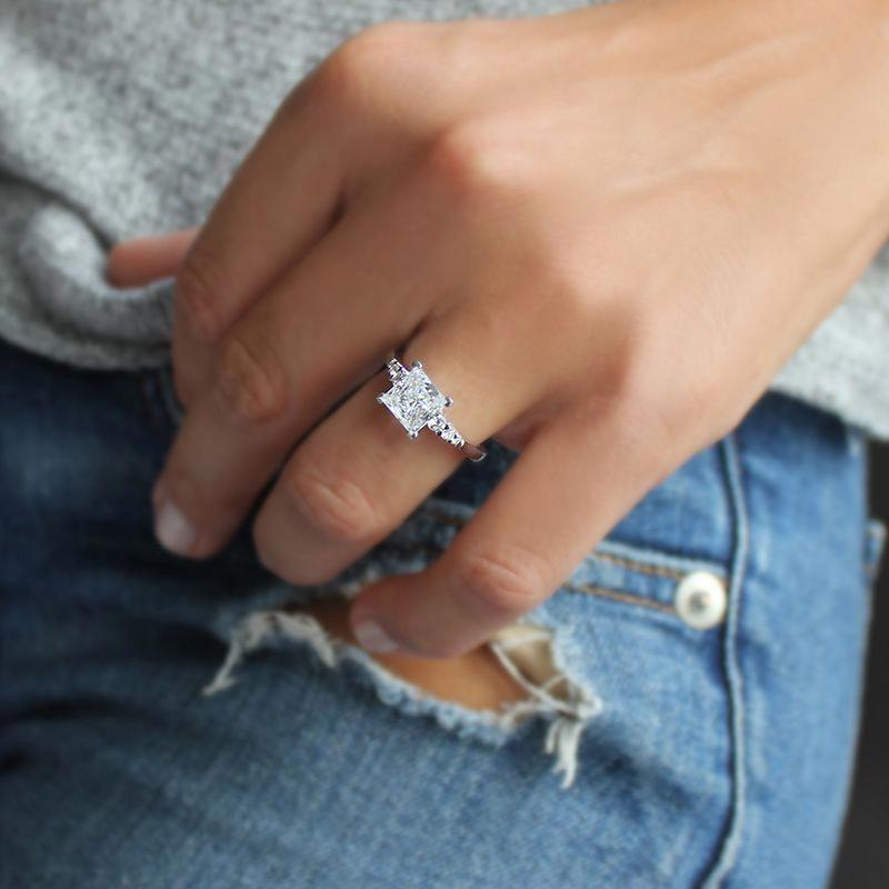 Arbroath Square Princess Engagement Mva93 Arb 14kwg Weddingrings