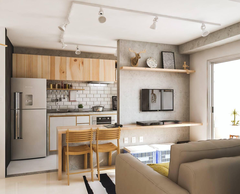 Sala Cozinha Americana E Rea Externa Bel M Pa Hc Studio