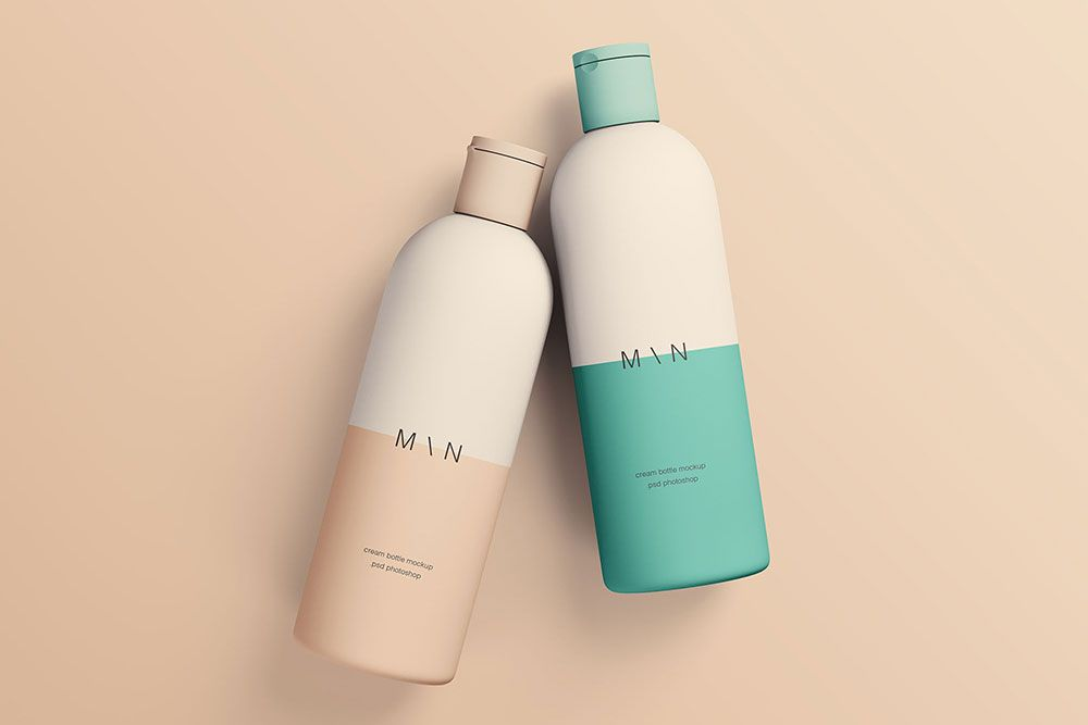 Cosmetic Bottle Mockup Free Psd Cosmetic Bottle Mockup Psd Cosmetics Mockup Shampoo Bottles Design Cosmetic Design