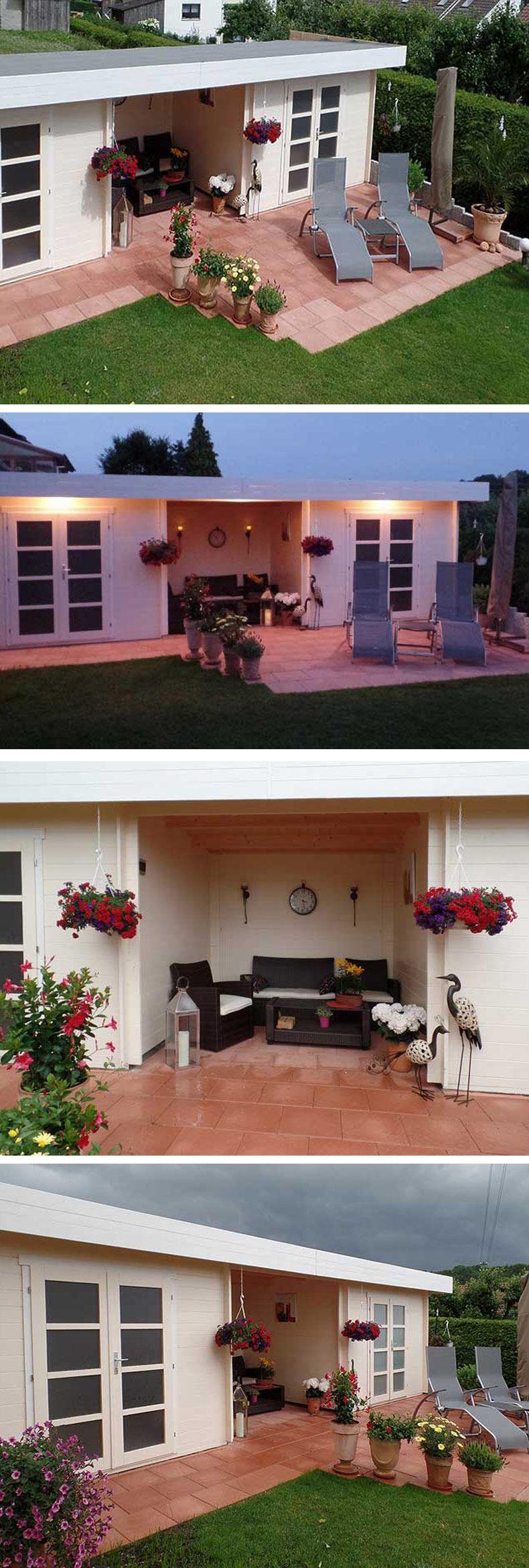 Gartenhaus mit WowEffekt Das große DoppelGartenhaus
