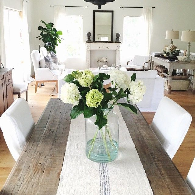 Pin By Betty Bravo On Antique Linen Old Grain Sacks Dining Room Table Centerpieces Home Kitchen Table Centerpiece