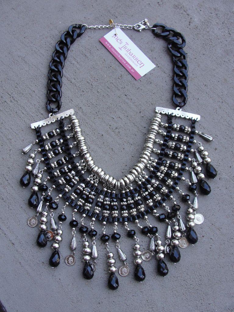 72f25b324147 Collar Cristal Negro - Inés Iribarren Accesorios