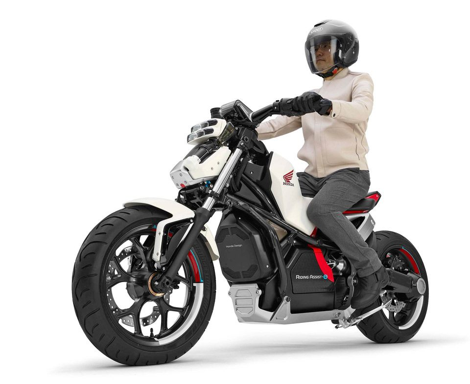 Honda Pushes Its Self Balancing Technology With The Riding Assist E Electric Motorcycle Tokyo Motor Show Motorcycle