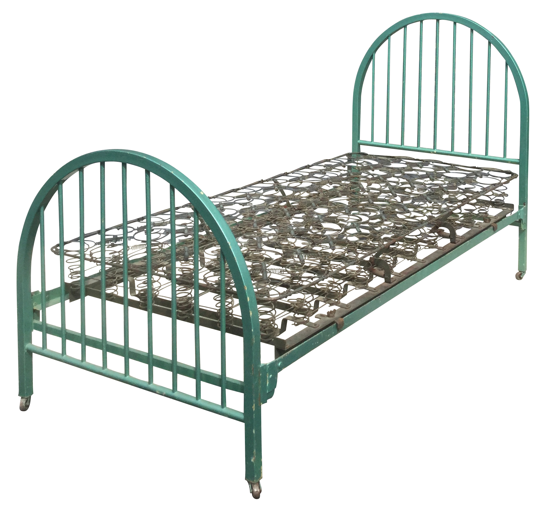 Vintage Metal Twin Bed on Metal twin bed
