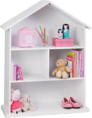 Mia Dolls House Bookcase - White.