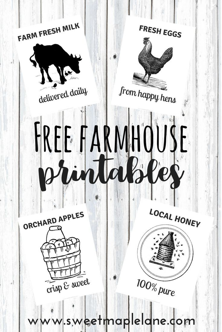 Free Printable Farmhouse Signs : printable, farmhouse, signs, Farmhouse, Printables, Sweet, Maple, Printables,, Free,, Kitchen