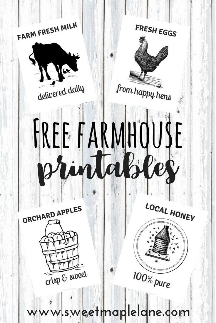 4 New Free Farmhouse Printables Printables, Farmhouse