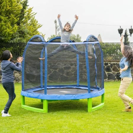 Bounce Pro 7 Foot My First Trampoline Hexagon Ages 3 10 For Kids